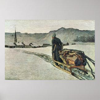 Vuelva del bosque de Giovanni Segantini Póster