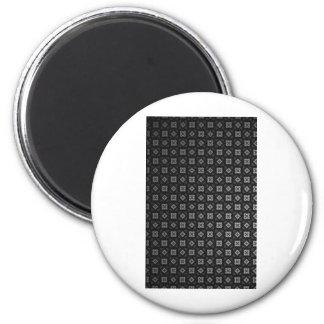 Vuitton Inspired Black Pattern Magnet