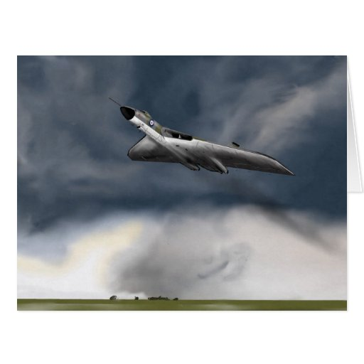Vulcan Bomber Greetings Card