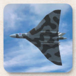 Vulcan bomber in flight beverage coaster