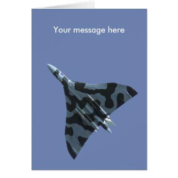 Vulcan bomber in flight card
