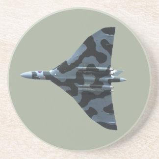 Vulcan bomber in flight drink coaster