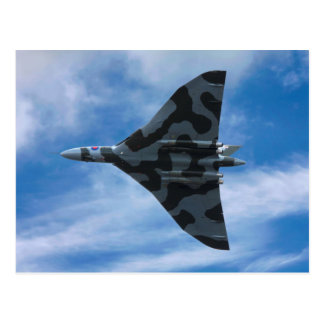 Vulcan bomber in flight postcard
