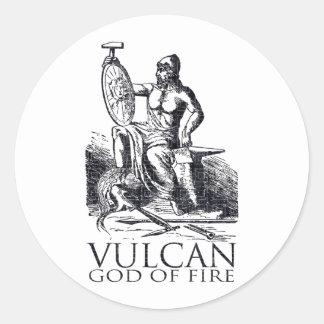 Vulcan Classic Round Sticker