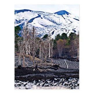Vulcan Etna on Isle the of Sicily Postales