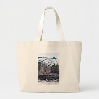 Vulcan Etna on the Isle OF Sicily Large Tote Bag