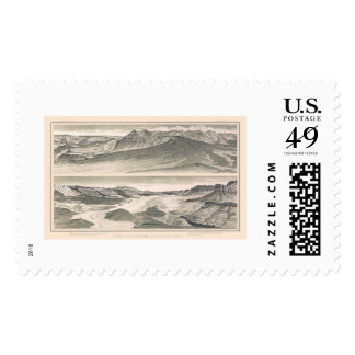 Vulcan Grand Canyon Print by Dutton 1882 Postage