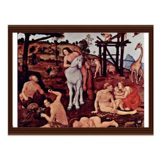 Vulcan (Hephaestus) And Aeolus By Piero Di Cosimo Postcard