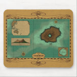 "Vulcania Chart - Nemo Version Mouse Pad<br><div class=""desc"">This is a chart (nautical map) of Captain Nemo&#39;s island base, Vulcania. This version is styled to represent the chart as it might have appeared as used in the chartroom of the Nautilus. The proportions of the island are true to those of the Peter Ellenshaw matte painting used in the...</div>"