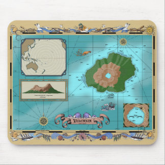 Vulcania Map Mouse Pad