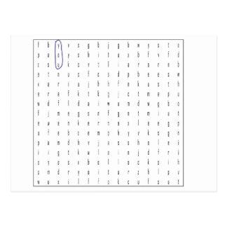 Vulgar Wordsearch Puzzle Postcard
