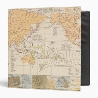 """Vulkane, mapa del atlas de Koralleninseln Carpeta 1 1/2"""""""