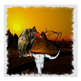 Vulture And Ox Horns Poster