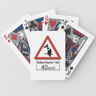 Vulture Area, Traffic Warning Sign, Namibia Bicycle Playing Cards