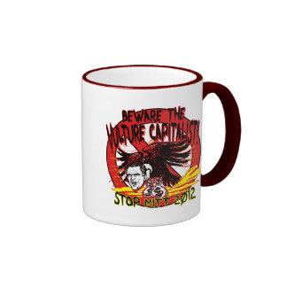 Vulture Capitalist Ringer Coffee Mug