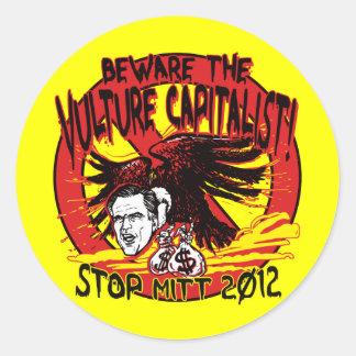 Vulture Capitalist Classic Round Sticker