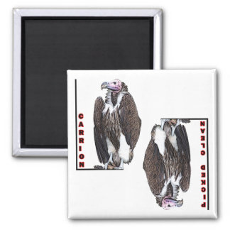 Vulture Carrion and Picked Clean for Dishwasher 2 Inch Square Magnet
