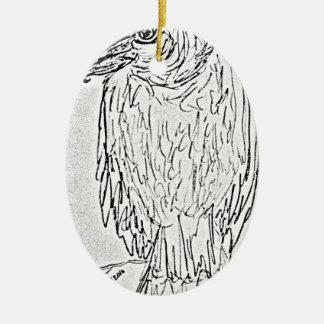vulture ceramic ornament