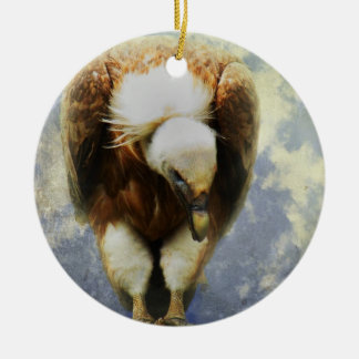 Vulture Ceramic Ornament