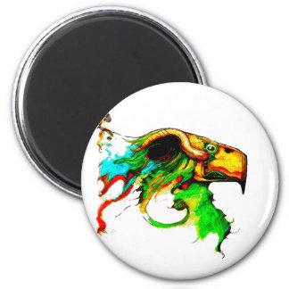vulture-chicken 2 inch round magnet