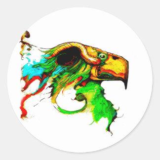 vulture-chicken classic round sticker
