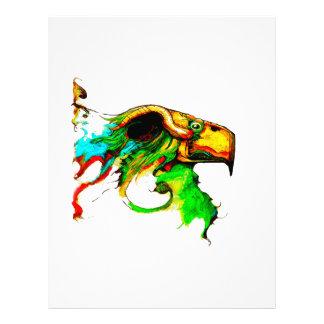 vulture-chicken letterhead design