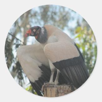 vulture classic round sticker