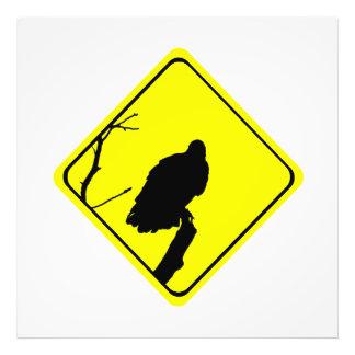 Vulture Crossing Bird Silhouette Crossing Sign Photo Art