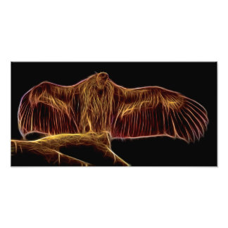 Vulture Fractal Photo Print