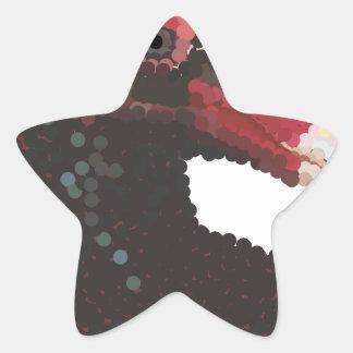 Vulture Head Pointillism Star Sticker
