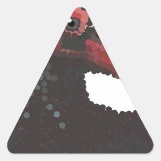 Vulture Head Pointillism Triangle Sticker