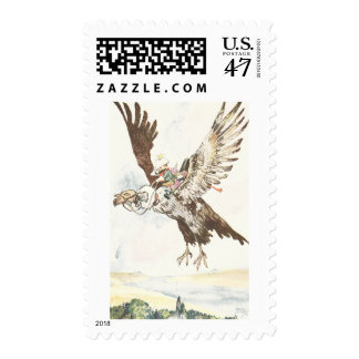 Vulture in Flight with Passengers Postage Stamp