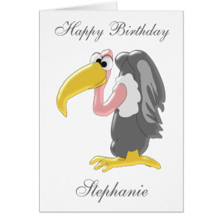 Vulture Just Add Name Birthday Card