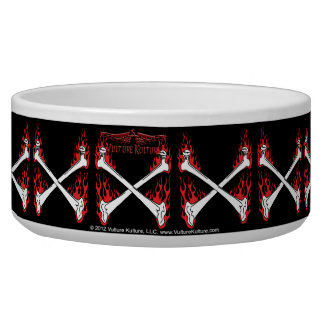 Vulture Kulture® Flaming Bones Dog Bowl