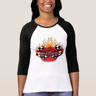 Vulture Kulture® logo - flags and flames t-shirt