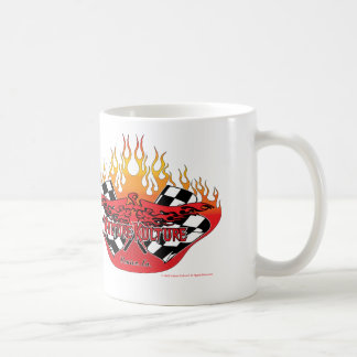 Vulture Kulture® Logo with Flags and Flames Mug