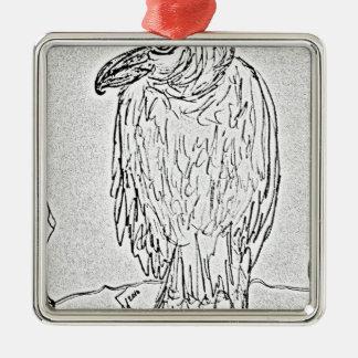 vulture metal ornament