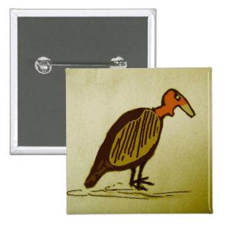 vulture pinback button