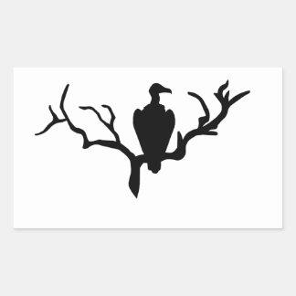 Vulture Rectangular Sticker