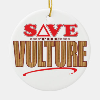 Vulture Save Ceramic Ornament