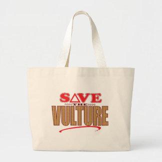 Vulture Save Large Tote Bag