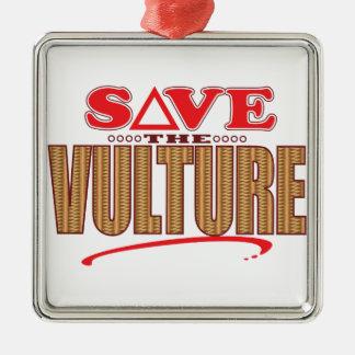 Vulture Save Metal Ornament