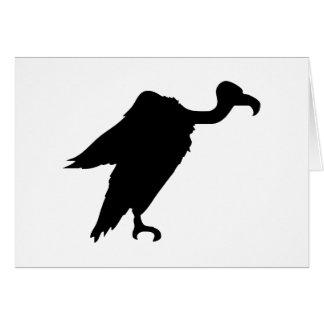Vulture Silhouette Card