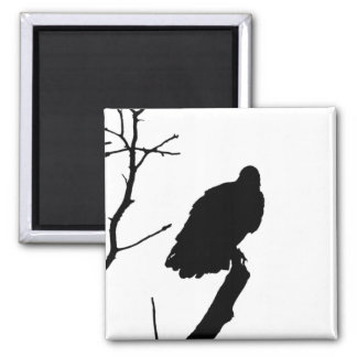 Vulture Silhouette Love Bird Watching Raptors 2 Inch Square Magnet