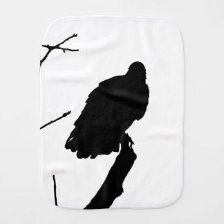 Vulture Silhouette Love Bird Watching Raptors Burp Cloth