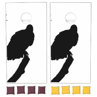Vulture Silhouette Love Bird Watching Raptors Cornhole Set