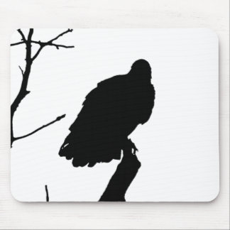 Vulture Silhouette Love Bird Watching Raptors Mouse Pad