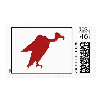 Vulture Silhouette Postage Stamp