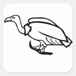 Vulture Square Sticker