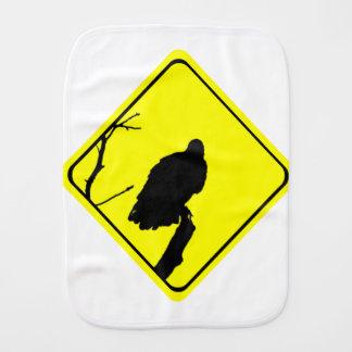 Vulture Warning Sign Love Bird Watching Raptors Baby Burp Cloth